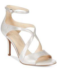 Nine West - Metallic Gerbera Mid-Heel Dress Sandals - Lyst