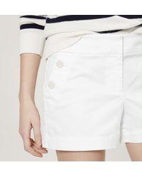 "LOFT - White Sailor Riviera Shorts With 4"" Inseam - Lyst"