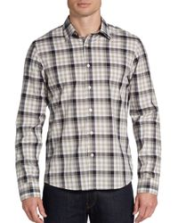 Michael Kors - Multicolor Windowpane Plaid Cotton Sportshirt for Men - Lyst