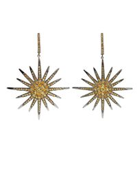Bochic | Metallic Yellow Sapphire Starburst Earrings | Lyst