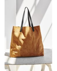 BDG - Brown Suede Pocket Tote Bag - Lyst