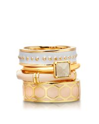 Astley Clarke - Natural Peach Blush Bamboo Ring - Lyst
