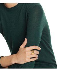Tory Burch | Metallic Double Serif-t Logo Ring | Lyst