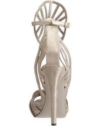 Maiyet Gray Cutout Medallion Platform Sandal