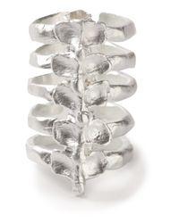 Bjorg | Metallic After Eden Spine Ring | Lyst