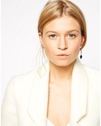 ASOS - Pink Mismatch Open Diamond Shape Earrings - Lyst