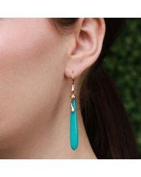 Lucifer Vir Honestus - Blue Turquoise Drop Earrings - Lyst