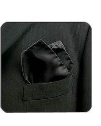 FORZIERI | Black Silk Pocket Square | Lyst