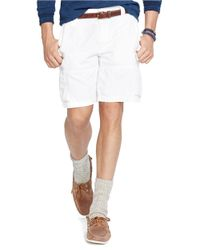 Polo Ralph Lauren | White Classic-Fit Commander Cargo Shorts for Men | Lyst