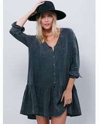 Free People | Black Devon Dress | Lyst