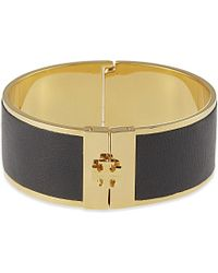 Tory Burch | Black Skinny Inlay Bangle - For Women | Lyst