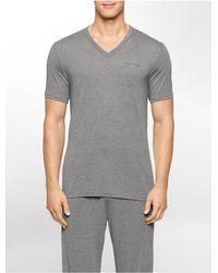 Calvin Klein - Gray Underwear Liquid Luxe V-neck T-shirt for Men - Lyst