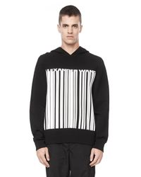 Alexander Wang - Black Barcode Logo Hooded Sweater for Men - Lyst