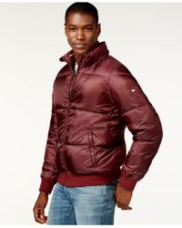 Tommy Hilfiger | Red Full-zip Puffer Coat for Men | Lyst