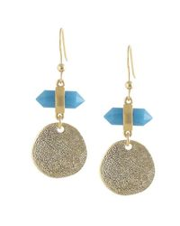 Karen Kane | Blue Inspiration Point Drop Earrings | Lyst
