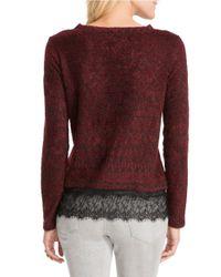 Jessica Simpson   Purple Luna Lace-trimmed Sweater   Lyst