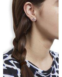 Vivienne Westwood | Metallic Nano Solitaire Swarovski Orb Earrings | Lyst