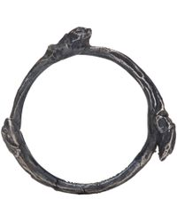 Ann Demeulemeester | Metallic Silver Tarnished Branch Ring for Men | Lyst