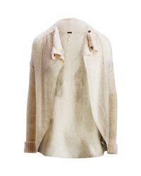 Free People - White Cascade Cardi Sweater - Lyst