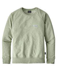 Patagonia Green Pastel P-6 Label Midweight Crew Sweatshirt for men