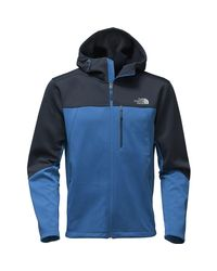 The North Face - Blue Apex Canyonwall Hybrid Hooded Jacket for Men - Lyst