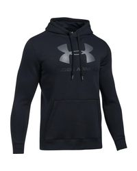 Under Armour - Blue Rival Graphic Pullover Hoodie for Men - Lyst