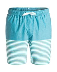Quiksilver - Blue Breezy Stripe Swim Trunk for Men - Lyst