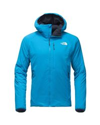 The North Face - Blue Ventrix Hooded Insulated Jacket for Men - Lyst