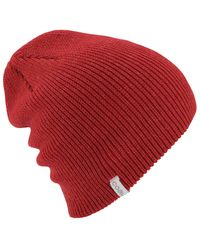 Coal - Red Frena Solid Beanie - Lyst