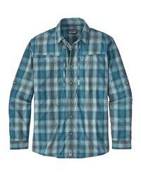 Patagonia - Blue Sun Stretch Long-sleeve Shirt for Men - Lyst