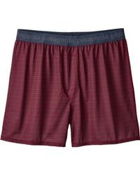 Patagonia - Red Capilene Daily Boxers for Men - Lyst