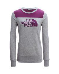 The North Face | Gray Half Dome Fleece Crew Pullover Sweatshirt | Lyst