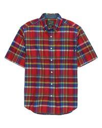 Woolrich - Red Timberline Shirt - Short-sleeve for Men - Lyst