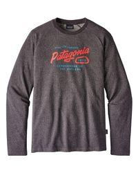 Patagonia - Black Splitter Script Lightweight Crew Sweatshirt for Men - Lyst