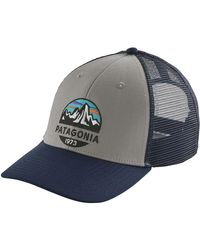 Patagonia - Gray Fitz Roy Scope Lopro Trucker Hat for Men - Lyst