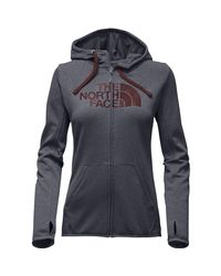The North Face - Gray Fave Half Dome Full-zip Hoodie - Lyst
