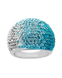 Lord & Taylor | Sterling Silver Faded Blue Crystal Ring | Lyst