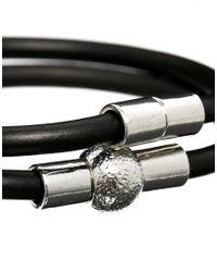 ASOS - Black Double Bracelet Pack with Magnets for Men - Lyst