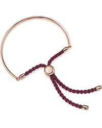 Monica Vinader | Pink Fiji 18ct Rose Gold-plated Friendship Bracelet | Lyst