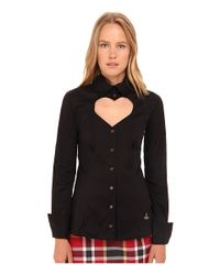 Vivienne Westwood Red Label | Black Classic Poplin Love Shirt | Lyst