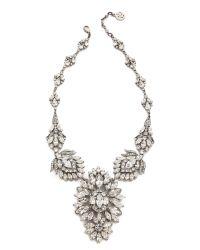 Ben-Amun | Metallic Crystal Statement Necklace - Clear | Lyst