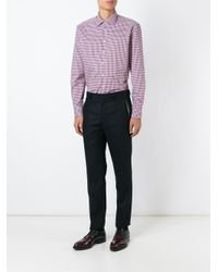 Etro - Pink Checked Shirt for Men - Lyst