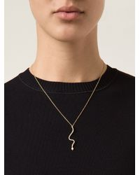 Ileana Makri | Metallic 'lucky' Snake Pendant Necklace | Lyst
