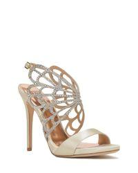 Badgley Mischka | Natural Newlyn Embellished Evening Shoe | Lyst