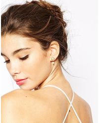 ASOS - Metallic Textured Ball Swing Earrings - Lyst