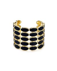 House of Harlow 1960 | Black 1960 Del Sol Leather Cuff | Lyst