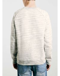 TOPMAN - Gray Grey Spacedye Raglan Sweatshirt for Men - Lyst