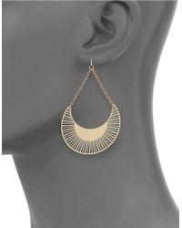 Panacea   Metallic Spiral Crescent Drop Earrings   Lyst
