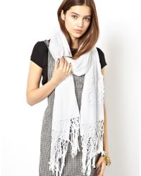 ASOS | White Lace Scarf | Lyst