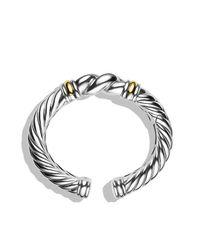 David Yurman - Metallic Metro Cuff With Gold - Lyst